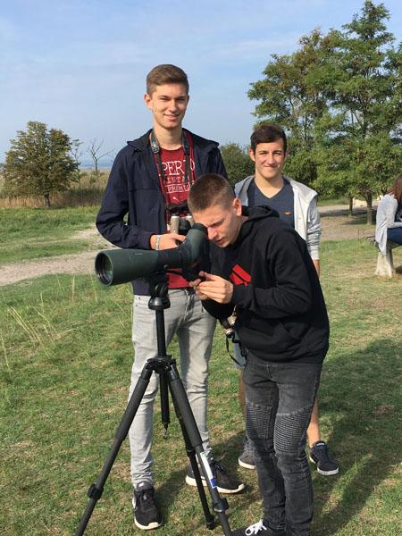 Schülergruppe im Nationalpark