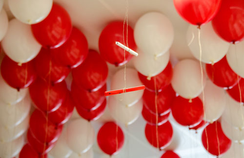 Luftballons in Rot Weiß Rot