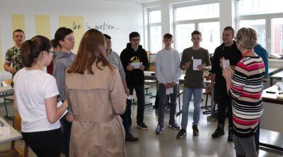 Schülergruppe Workshop in Englisch